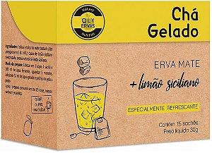 QLY Ervas Chá Gelado Erva Mate com Limão Siciliano em Sachê