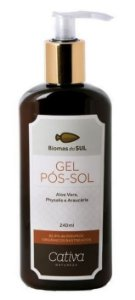 Gel Pós-Sol Biomas do Sul com Aloe Vera, Physalis e Araucária 240ml - Cativa Natureza