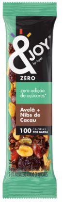 &Joy Barrinha Zero Açúcar Amendoim, Amêndoa, Castanha de Caju, Avelã e Nibs de Cacau