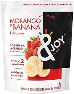 &Joy Snack Liofilizado Morango e Banana 15g