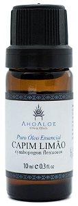 AhoAloe Óleo Essencial de Capim Limão Orgânico (Lemongrass) 10ml