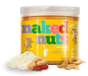 Naked Nuts Mix de Pastas Amendoim + Castanha de Caju Sabor Leite em Pó 450g