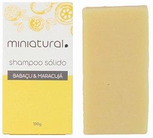 Miniatural Shampoo Sólido Babaçu e Maracujá 100g