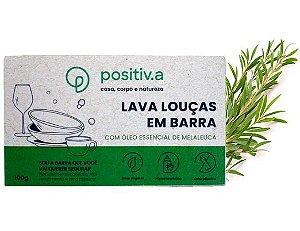 Positiv.a Lava Louças em Barra Melaleuca 100g