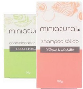 Miniatural Kit Shampoo Sólido Patauá e Ucuuba + Condicionador em Barra
