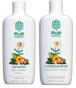 Multi Vegetal Kit Capilar Camomila e Calêndula - Shampoo + Condicionador