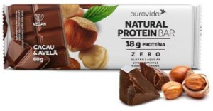 Puravida Natural Protein Bar - Barrinha de Proteína Cacau e Avelã 60g