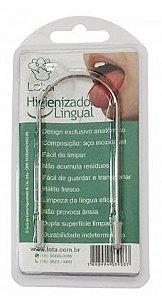 Lota Raspador de Língua - Higienizador Lingual de Aço Inoxidável