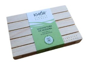Khor Saboneteira de Madeira 1un