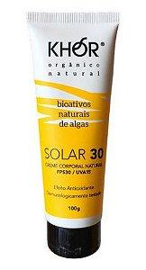 Khor Protetor Solar Facial e Corporal Natural e Vegano FPS 30 UVA/UVB 100g