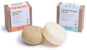BOB Kit Shampoo Sólido Hidratante + Condicionador Sólido Hidratação Suave