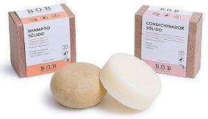 BOB Kit Shampoo Sólido Hidratante + Condicionador Sólido Hidratação Profunda