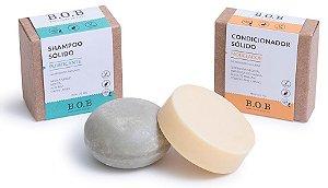 BOB Kit Shampoo Sólido Purificante + Condicionador Sólido Modelador