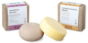BOB Kit Shampoo Sólido Revitalizante + Condicionador Sólido Modelador