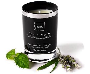 Blend Art Vela Vegetal Special Nights - Lavanda, Patchouli e Capim Limão 140g