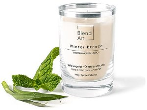 Blend Art Vela Vegetal Winter Breeze - Hortelã e Capim Limão 140g