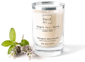 Blend Art Vela Vegetal Empty Your Mind - Lavanda e Menta 140g