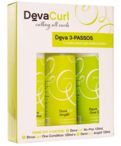 Deva Curl Kit 3 Passos - No Poo + One Condition + Angéll 120ml