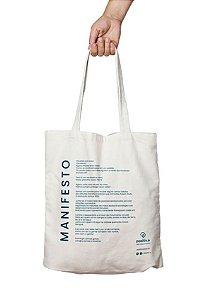Positiv.a Ecobag de Algodão Cru - Manifesto 1un