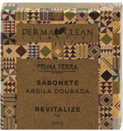 Derma Clean Prima Terra Sabonete Argila Dourada - Revitalize 100g