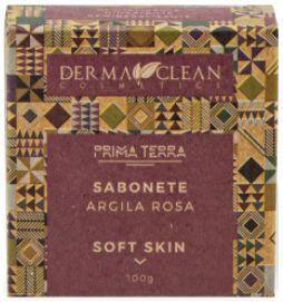 Derma Clean Prima Terra Sabonete Argila Rosa - Soft Skin 100g