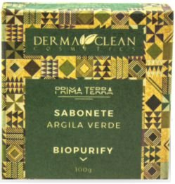 Derma Clean Prima Terra Sabonete Argila Verde - Biopurify 100g