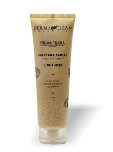 Derma Clean Prima Terra Máscara Facial Argila Branca - Lightness 120g