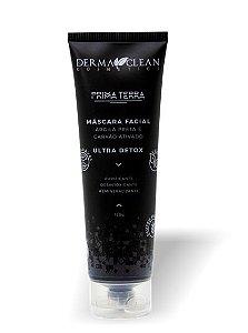 Derma Clean Prima Terra Máscara Facial Argila Preta e Carvão Ativado - Ultra Detox 120g