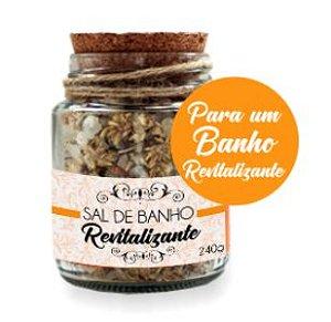 Derma Clean Sais de Banho Revitalizantes com Alecrim, Capim Limão, Menta 240g