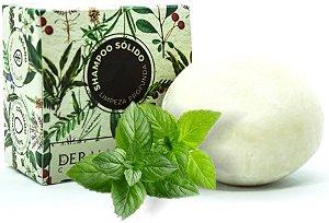 Derma Clean Shampoo Sólido Limpeza Profunda com Alecrim, Menta e Capim Limão 80g