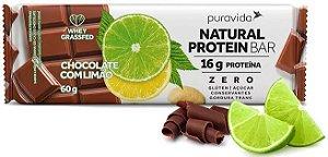 Puravida Natural Protein Bar - Barrinha de Proteína Chocolate com Limão 60g