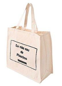 Agora Sou ECO Sacola Ecobag Grande 100% Algodão Reciclado 1un