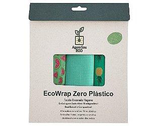 Agora Sou ECO EcoWrap Tecido Encerado Vegano Zero Plástico - Tamanho M 1un