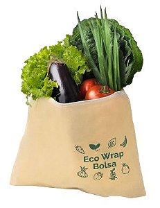 Agora Sou ECO EcoWrap Bolsa de Tecido Encerado Vegano Zero Plástico 1un