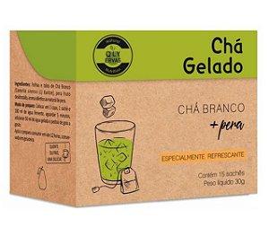 QLY Ervas Chá Branco Gelado com Pera Caixa 15 Sachês