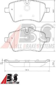 Pastilha de Freio Dianteira Mini Cooper - ALL BRAKE SYSTEMS