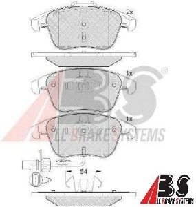 Pastilha de Freio Dianteira Audi A4 155,2mm - ABS
