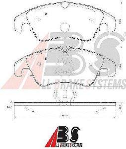 Pastilha de Freio Dianteira Audi A4/ A5/ Q5 188mm - All Brake Systems