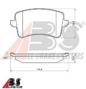 Pastilha de Freio Traseira Audi A4/ A5/ Q5 - All Brake Systems