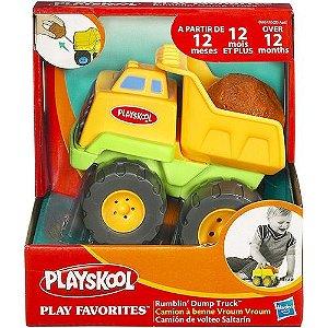 Carrinhos que Vibram Rumblin Dump Truck - Playskool - Caminhão Amarelo