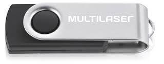Pen Drive 64GB Multilaser Twist 2 PD590 - Preto
