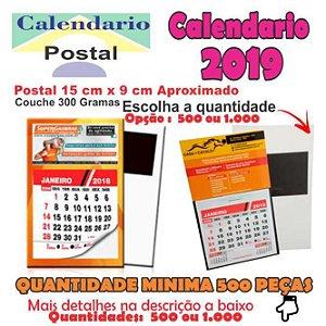 Calendários 2020 Postais Imantado Com Calendário