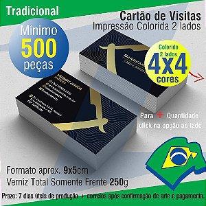 Cartão de Visitas Colorido Frente e Verso