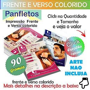 Panfleto Colorido Frente e Verso 4x4