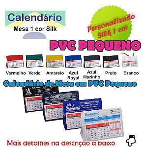 100 CALENDÁRIOS DE MESA PVC PEQUENO