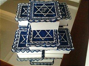 CAIXA DE MDF -  FESTAS JUDAICA (tampa em tecido bordado)