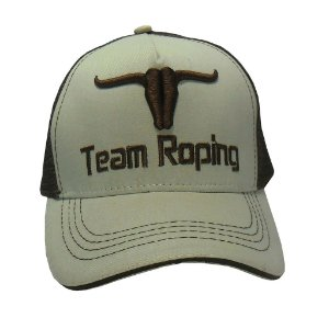 Boné Team Roping - Bege c/ Marron