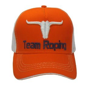 Boné Team Roping - Laranja C/ Branco