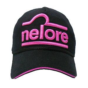 Boné Nelore - Preto C/ Pink