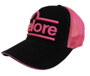 Boné Nelore - Preto c/ Tela Pink